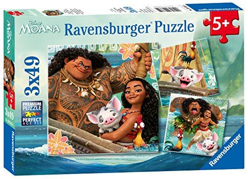 Ravensburger Disney Moana Born To Voyage 49 Piece Jigsaw Puzzle for Kids – Every Piece is Unique, Pieces Fit Together Perfectly