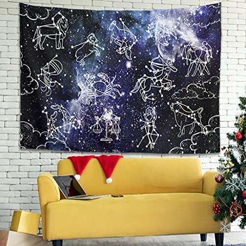 OwlOwlfan Star Constellation - Manta de pared ligera y personalizada, para decoración del hogar, color blanco 59 x 51 pulgadas
