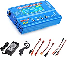 Haisito 80W 6A Lipo Battery Balance Charger Discharger for LiPo/Li-ion/Life/LiHV Battery (1-6S), NiMH/NiCd (1-15S), Rc Hobby Battery Balance Charger LED W/AC Power Adapte (B6-Blue)