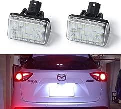 GemPro 2-Pack LED License Plate Light For Mazda CX-5 CX-7 Mazda6 Speed6