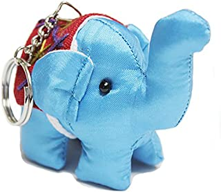 The Toy Thai Elephant Keychain, Handmade Toy Product, Toy for Kids, Gift for Special Person 5 cm 1 pc (Color Random)
