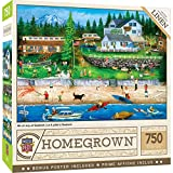 750 Piece Jigsaw Puzzle for Adult, Family, Or Kids - 4Th of July at Seabeck by Masterpieces - 18'X24' - Family Owned American Puzzle Company