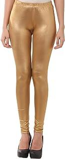 FashGlam Women Shimmer Legging - Dark Golden