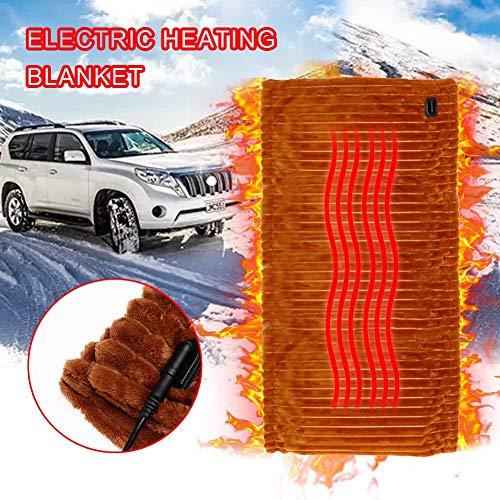 Yves25tate Elektrische Heizdecke für Auto, Kuschel heizkissen 12V Auto elektrische Heizdecke für Auto und Wohnmobil - ideal für kaltes Wetter Various Occasions