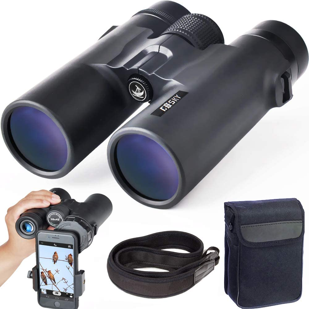 Gosky 10x42 Direct stock discount shipfree Roof Prism Binoculars for Bi Professional HD Adults