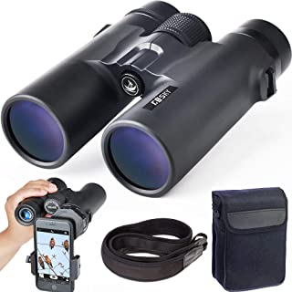 Gosky 10x42 Roof Prism Binoculars for Adults, HD Professional Binoculars for Bird Watching Travel Stargazing Hunting Conce...