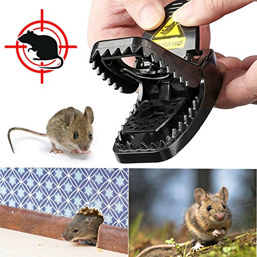 LENKA Best Mouse Trap, Mice Trap Snap Humane Power Rodent Killer - Reusable & Powerful - 100% Mouse Catcher - 4 Packs