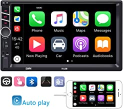$69 » Double Din Car Stereo in-Dash Car Radio with Bluetooth 7 Inch Touch Screen D-Play Mirror Link for Android iOS Phone Support FM/USB/TF/Aux-in with Back Camera