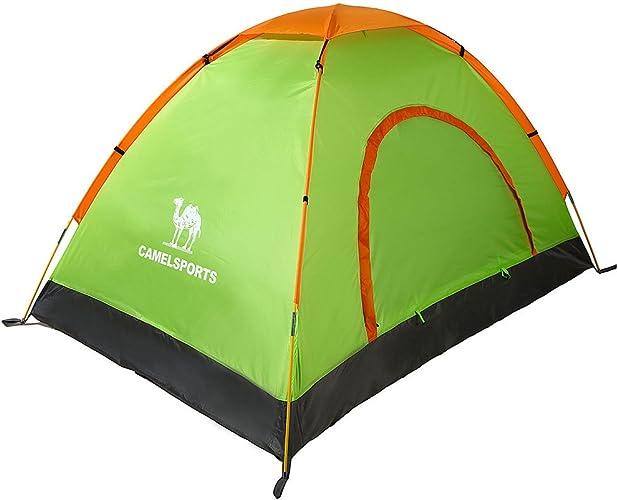 Double camping en plein air tente de camping dans des tentes trois quarts voyage de camping tente extérieure