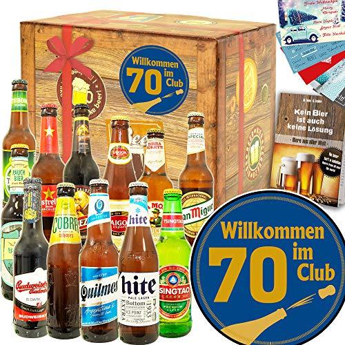 Wilkommen im Club 70-12 Biere der Welt - Geschenkidee Geburtstag 70
