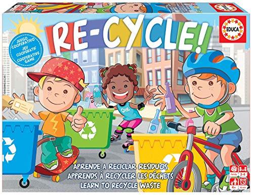 Educa -Re-Cycle! Juego de Mesa cooperativo Infantil. Aprende a Reciclar divirtiéndote con Este entretenido Juego de Mesa. A Partir de 4 años. Ref. 18852