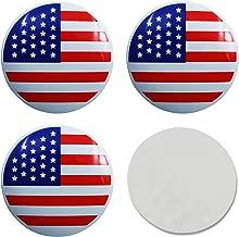 EVPRO 4pcs 56MM 2.22'' Wheel Center Hub Caps Sticker Emblem Badge for Tire Decorative Accessories (Flag of US)