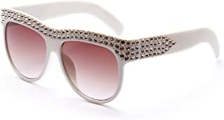 Sunglasses Fashion Accessories Diamond-Encrusted Large Box Sunglasses Style Fashion for Party Banquet Decoration (Color : Beige)