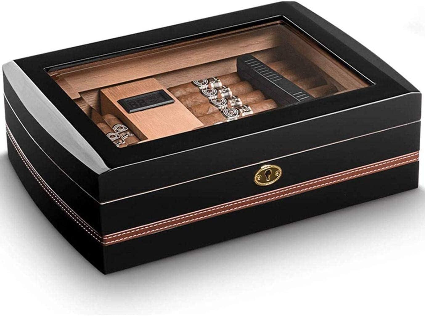 ZHJBD Smoking Set Cigar Accessories Humidor Mesa Mall Box Glass Tampa Mall Top