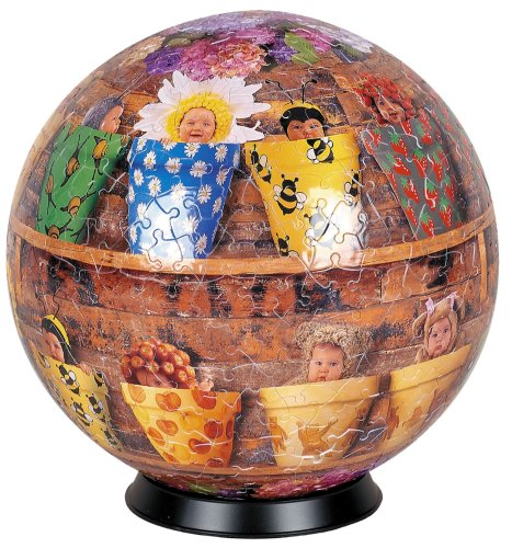 "Esphera 360 9"" 540 Pieces Sphere Art: Anne Geddes's ""Pots"" by Mega Brands"