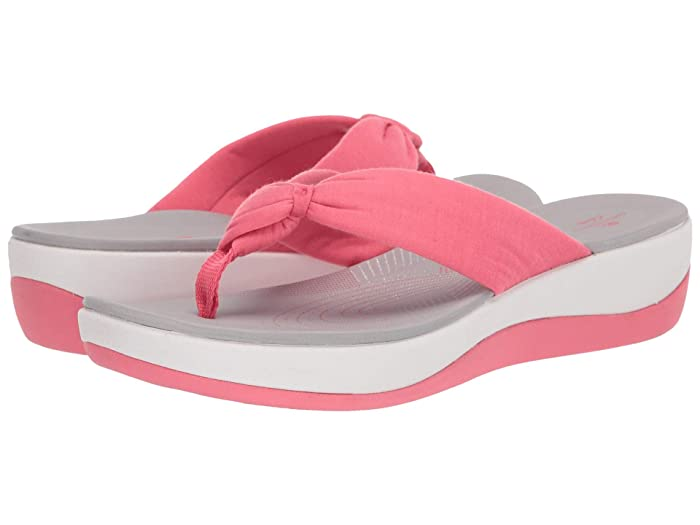 Clarks  Arla Glison (Berry Pink Solid Textile) Womens Sandals