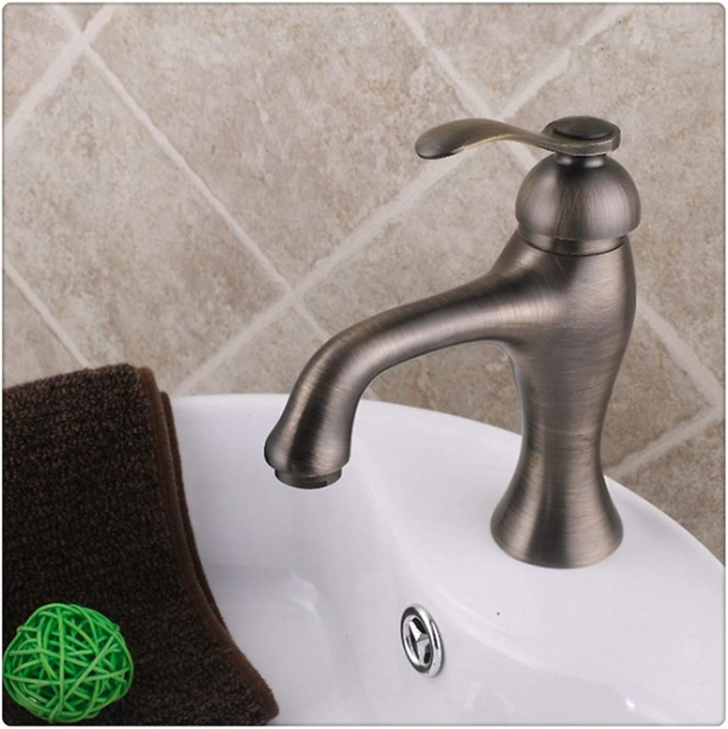 Bathroom Sink Taps Antique Swivel Deck Mounted Brass Bathroom Basin Sink Faucet