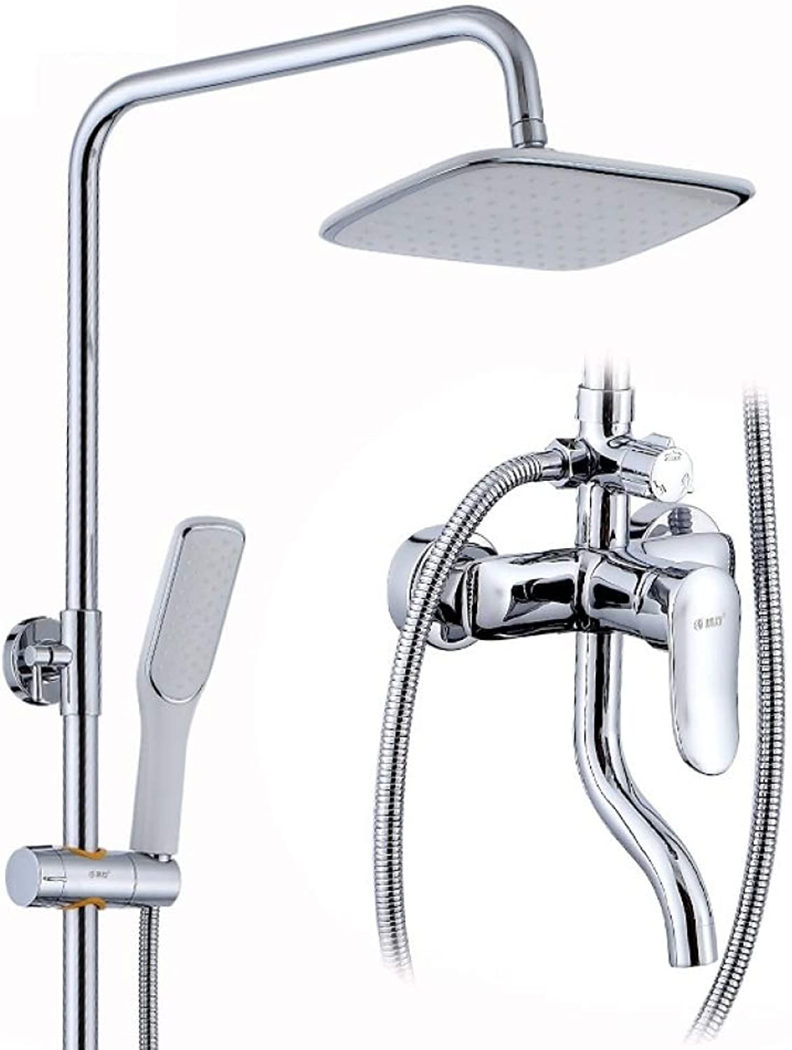 LyMei shower faucet set, shower system polished Copper-Adjustable Shower-Wall Mounted- Three outlet showers mean flexibility-Bathroom modern rain