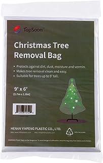 TopSoon Christmas Tree Removal Bag 9-Feet Tall by 6-Feet Wide Christmas Tree Disposal Bag Plastic Patio Furniture Cover La...