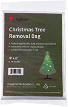TopSoon Christmas Tree Removal Bag 9-Feet Tall by 6-Feet Wide Christmas Tree Disposal Bag Plastic Patio Furniture Cover Large Clear Storage Bag