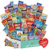 Valentines Day Candy Gift Basket for Kids Snack Box Variety Pack (60 Count) - College Student Care Package, Prime Food Arrangement Chips, Cookies, Bars - Birthday Treat for Her, Him, Teen, Boy, Girl
