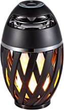 Led flame speaker, Torch atmosphere Bluetooth speakers&Outdoor Portable Stereo Speaker with HD Audio and Enhanced Bass,LED flickers warm yellow lights BT4.2 for iPhone/iPad /Android -Black