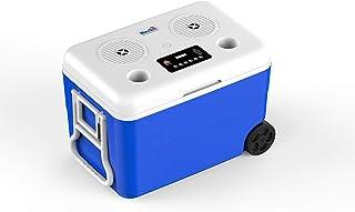 Merlin Kool Box Speaker Ice Box Cooler With Wheels for Car Hi-Fi Bluetooth 4.0 Speakers Integrated Karaoke System Portable...