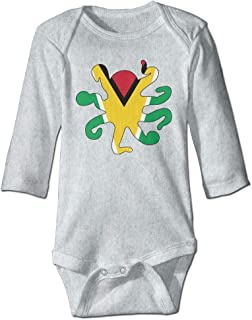 braeccesuit Puerto Rican Flag I Heart Infant Baby Boys Girls Infant Creeper Short-Sleeve Onesie Romper Jumpsuit
