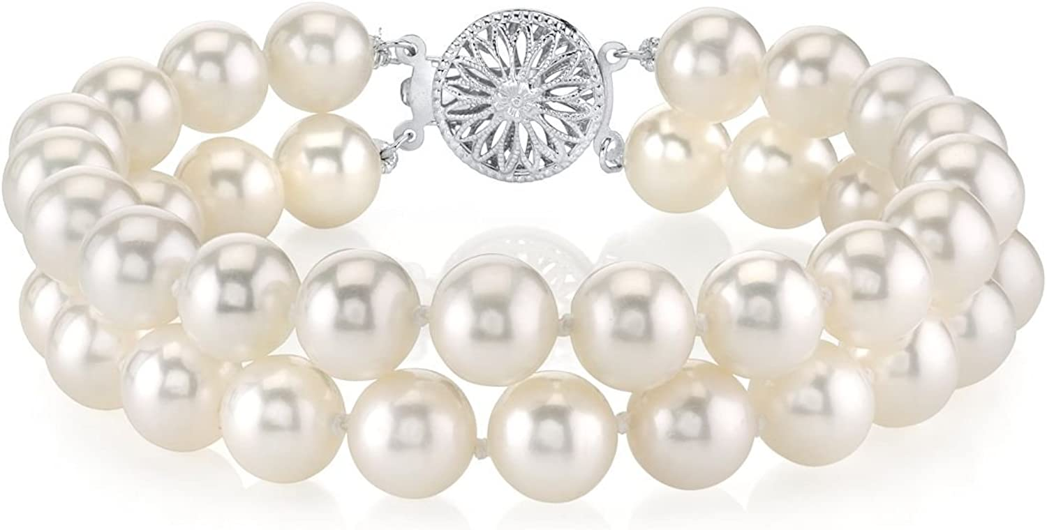 THE PEARL SOURCE 14K Gold 8-9mm Quality Award-winning store Round Albuquerque Mall Double AAAA White