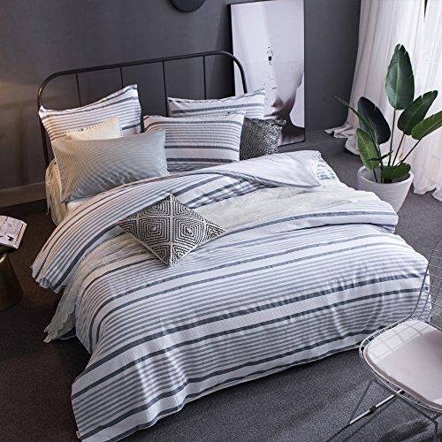 Merryfeel 100% Baumwolle Garn gefärbt Bettwäsche-Set - (Single Set) 137x200+50x75cm