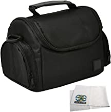 Medium Soft Padded Digital SLR Camera Travel Case/Bag with Clip-on Detachable and Adjustable Strap for Nikon COOLPIX L840, L830, L820, L810, P900, P610, P600, P530, P520, P510, P500, 1 S1, S2, J1, J2, J3, J4, V1, V2, V3, AW1, P7700, P7100, P7000, P100, L310, L120, L110, L100, P90, P80