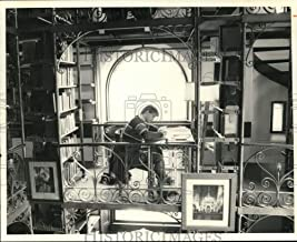 1987 Press Photo Ed McDonald at Cornell University Andrew D. White Library