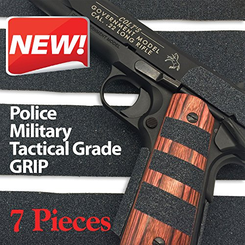 """Red Cat Pistol & Gun Grip Tape - Tactical Police Military Grade for Guns Knives Tools Phones Cameras Anything! 7 Pieces - 8.5"""" x 2"""" Massive Stick & Grip. Best Non Slip Solution Brand"""