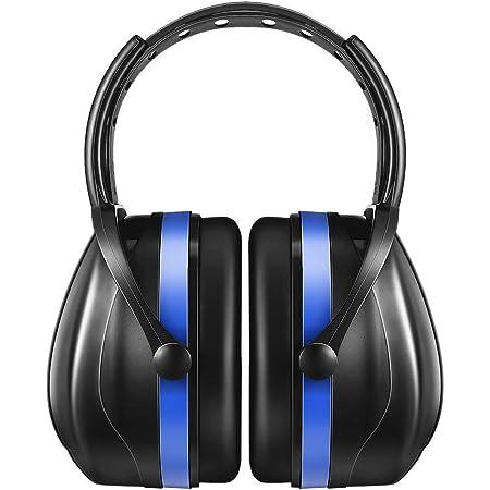 【進化版】AVANTEK 防音用イヤーマフ 遮音値36dB ANSI S3.19&CE EN352-1認証済み 聴覚保護 騒音対策 防音ヘッドホン (ブルー)