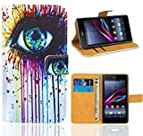 Sony Xperia Z1 Handy Tasche, FoneExpert Wallet Hülle Flip Cover Hüllen Etui Ledertasche Lederhülle Premium Schutzhülle für Sony Xperia Z1
