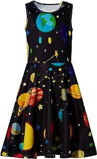 Girl Print Dress, Sleeveless Casual Floral Sundress for Girls 4-13 Years