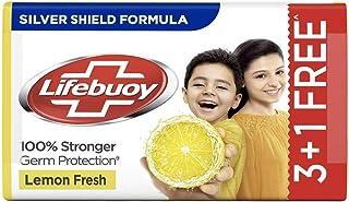 Lifebuoy Lemon Fresh 100% Stronger Germ Protection Soap Bar, 125 g (Pack of 4)