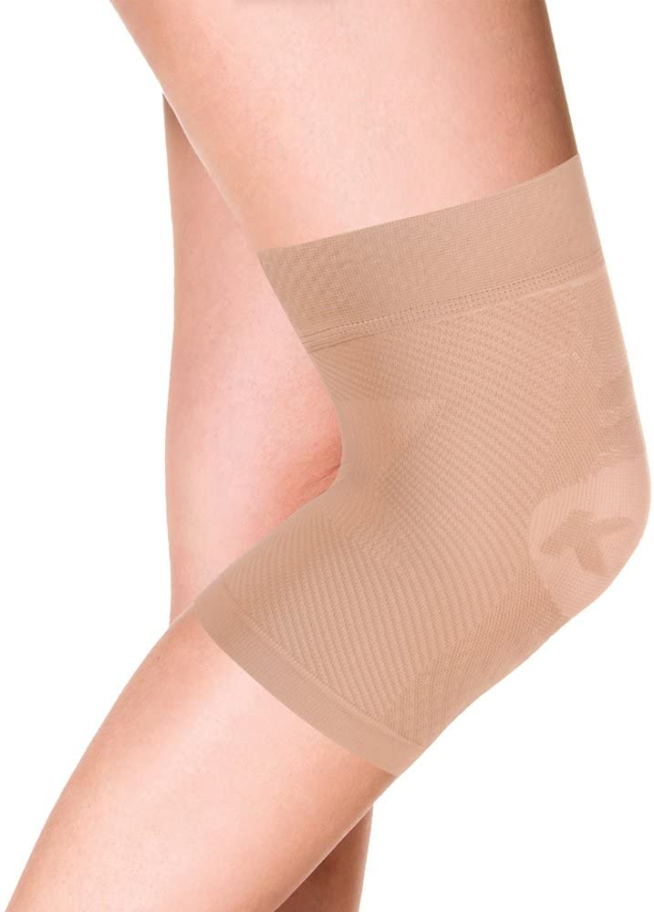 OrthoSleeve KS7 Compression Knee Sleeve for Knee Pain Relief, Aching Knees, patellar tendonitis and Arthritis Relief (XL, Single, Natural): Health & Personal Care