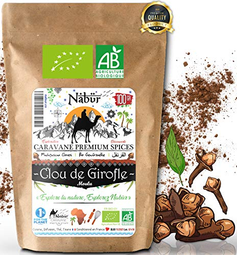 Nabür - Poudre de Clou de Girofle BIO Madagascar 100 Gr 🌴 Girofle en poudre, Gourmet, Cuisine, Infusion, Riche, Multi-usage, DIY