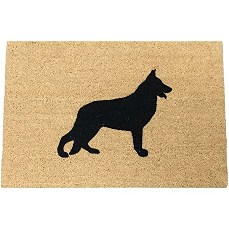 Calloway Mills 102982436 German Shepherd Doormat 24 X 36 Natural Black Furniture Decor