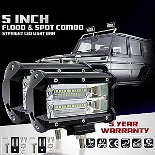 One Set 5 Inch 72W LED Two Row LED Long Strip Lights Work Driving Lights Off road Fog Lights Waterproof Heavy Duty, UTV, Truck, ATV, SUV, Jeep Truck Lights