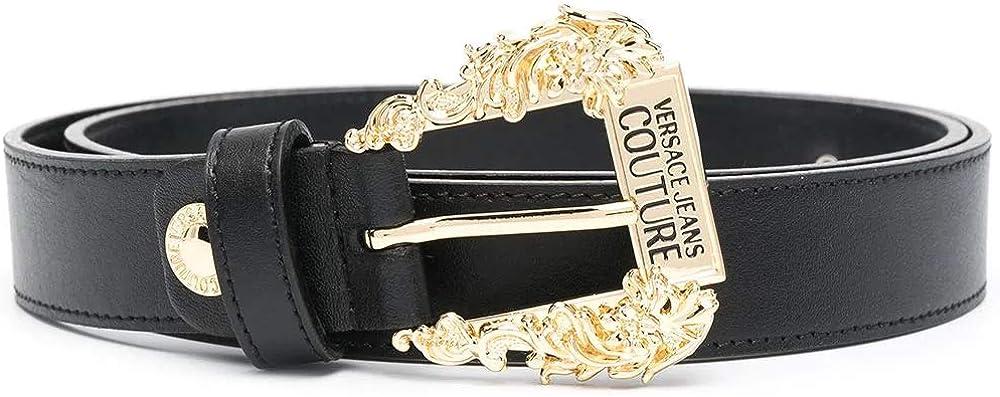 Versace  jeans couture,cintura per donna, in pelle al 100 %, con fibbia baroque colore oro. D8.VWAF01.71627-899_3