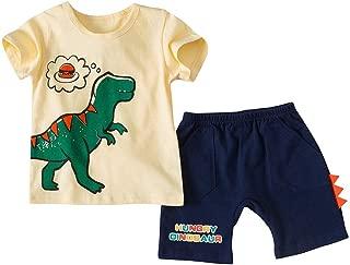 T-Shirt Dinosaure Cartoon /à Manches Courtes pour Gar/çons Pantalon Camo Tops Outfits Shirt Clothes 18 Mois 7 Ans wuayi  V/êtements de B/éb/é Gar/çon
