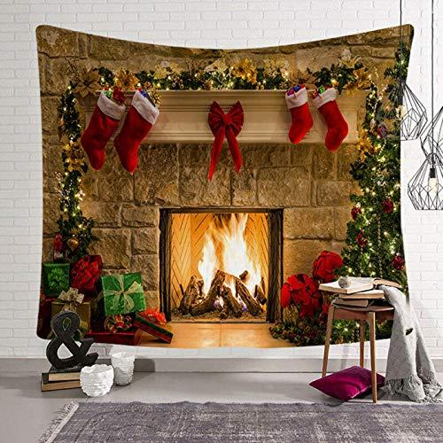 WEMAO Tapiz navideño Arte de Navidad Tapiz Colgante de Pared para el hogar Adorno de Pared Decoración de Pared navideña-230x180cm