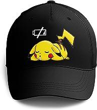 Okiwoki Casquette Noire Parodie Pokémon - Pikachu - Batterie à Plat !(Casquette de qualité supérieure - imprimé en France)