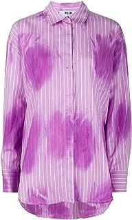 MSGM Luxury Fashion Womens 2841MDE05EX20700370 Purple Shirt |