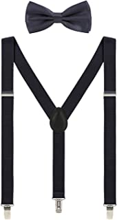 wedding suspenders and tie