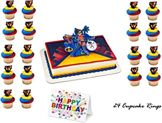 THE INCREDIBLES 2 JACK Cake Topper Set Cupcake 24 Pieces plus Birthday Card