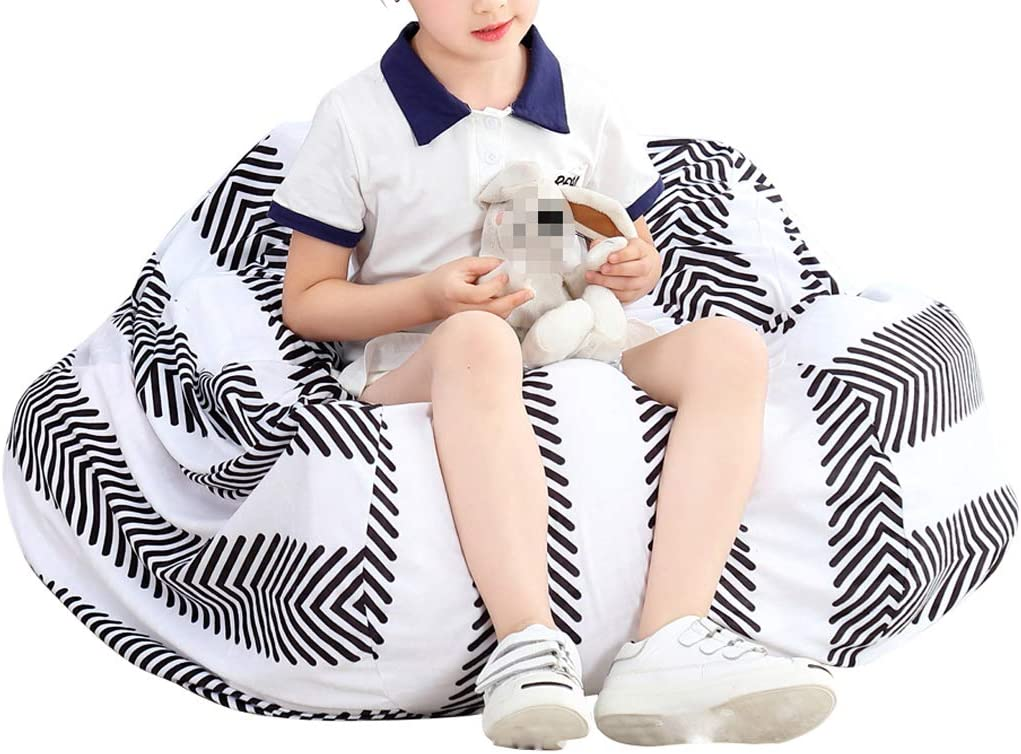 Teens and Adults Lounger Sack Material IRRIS Waterproof Bean Bag Chair Large Storage Bean Bag Oxford Chair Cover for Kids Cloth Machine Washable Removable Slip Cover.