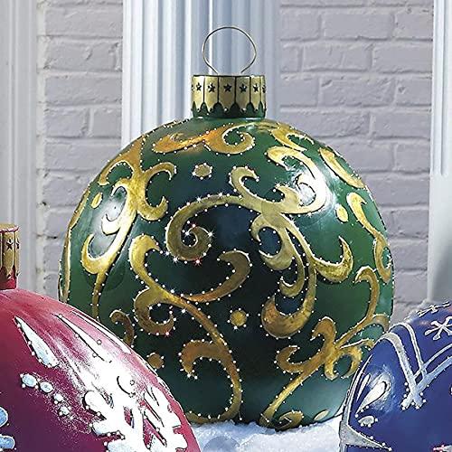 Palla decorata gonfiabile gigante del PVC di Natale, decorazioni gonfiabili all'aperto di Natale Decorazione delle palle dei gonfiabili di festa con la pompa (D)